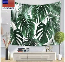 Psychedelic Tapestry Wall Tapestry Palm Tree Green Leaves Tropical Wall Bedroom