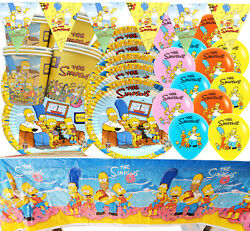 THE SIMPSONS BIRTHDAY PLATE CUP BANNER BALLOONS PARTY DECORATION CUPCAKE TOPPER $3.49