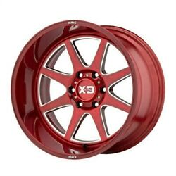 4 New 20x12 Xd Series Pike Brushed Red W/ Milled Accent 8x170 Xd84421287944n