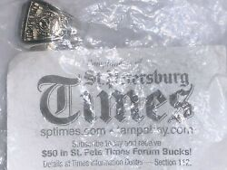 2004 Tampa Bay Lightning Sth Replica Stanley Cup Ring St Petes Times Intergold