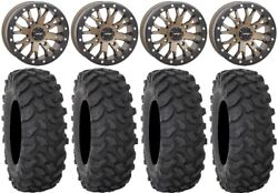 System 3 Sb-4 Bronze 6+1 15 Wheels 35 Xtr370 Tires Polaris Rzr Turbo S / Rs1