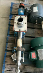 Moyno Sanitary Pump Model Ssq 2fgj3. Inlet Is 8 X4. Outlet Is 1.5 Tri-clamp