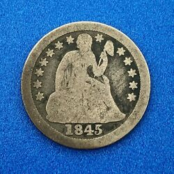 1845 O Seated Liberty Silver Dime 10c Better Key Rare Scarce New Orleans Coin