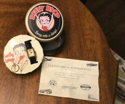 Vintage 1994 Fossil Betty Boop Watch And Pin In Tin Box Never Worn