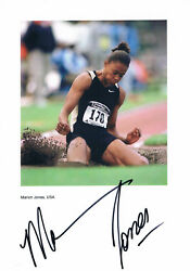 Marion Jones 1975- Autograph 8x12 Photo Signed Track And Field Athlete