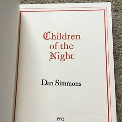 Children Of The Night Dan Simmons Lord John Press Signed Limited Ed. 345/500