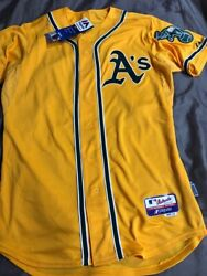 Brand New Authentic Jed Lowrie Oakland A's Mlb Baseball Jersey - Size 44 Sewn