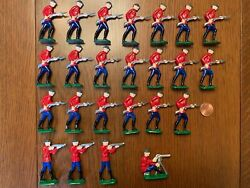 Antique Doughboy World War 1 Lead Soldiers, Lot Of 24