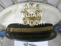 Miami Military Academy Officers Cap,newsletter,rank Pins From 1965, Mma Letter/t