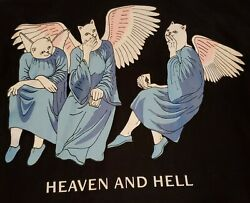 Ripndip Mens Size Small Heaven And Hell Painted Black Bomber Jacket We Bad Euc