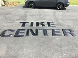 Vintage Original Tire Center Porcelain Sign - From Old Good Year Tire Center