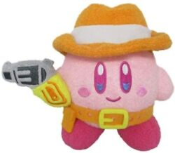 Sanei Kirby Of The Stars Kirby Muteki Suteki Closet Gunman Plush Doll Japan
