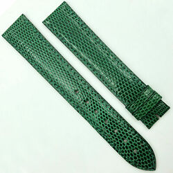 Authentic 17.5mm Green Leather Strap For Buckle 580oa13oeao