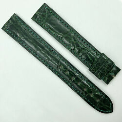 Authentic 15.5mm Green Leather Strap For Buckle 5801a09odal