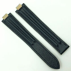 Authentic 8mm Black Lizard Leather Strap For Deployant Clasp 5806a20odln