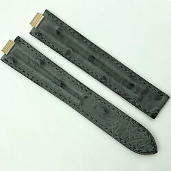Authentic 8mm Gray Alligator Leather Strap For Deployant 5806a20odhe