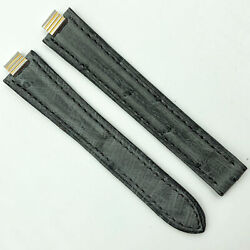 Authentic 7mm Gray Alligator Leather Strap For Deployant 5809a19oche