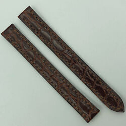Authentic 10.5mm Brown Leather Strap For Deployant Clasp