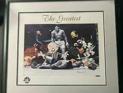 Limited Edition Muhammad Ali The Greatest Signed Looney Tunes Framed Photo