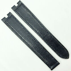 Authentic 16mm Dark Blue Leather Strap For Deployant 5806h10odad