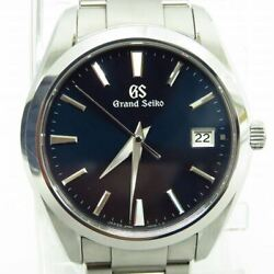 【almost Unused】grand Seiko Sbgv225 Blue Dial Quarz Watch Box And Papers 267
