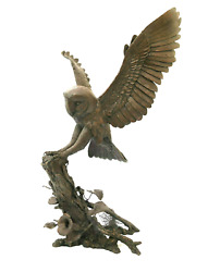 Bronze Barn Owl Large Richard Cooper Bronze Limited Edition Of 50 Silent Shadow