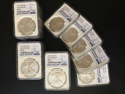 Lot Of 20 Silver 1 Oz American Eagle 2017 1 Coin Ms 70 Early Releases Ms70