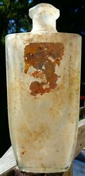 Antique 50's Old Grand Dad Whiskey Bottle/decanter W/ Tax Stamp