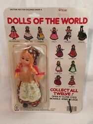 Vtg Beatoy Dolls Of The World Poland 80's Hong Kong Nip Dime Store Eyes Open Andcl