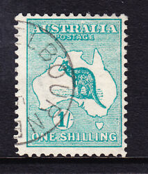 Sh 446 1/- April 15th 13 With Scarce Melbourne Cto Upright 1st Watermark