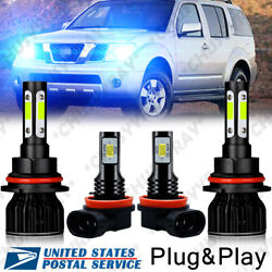 Fits 2005-2014 Nissan Frontier 8000k Led Headlight Bulb Fog Light Coversion Kit