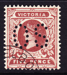 Sh 173 Victoria Cto 5d Brown Perf Os For Upu Distribution Only. Scarce No Gum