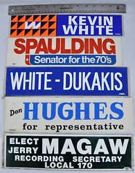 Political Bumper Stickers, Lot Of 5. Kevin White - Spauldin Lot 8nw-bsm/181222