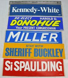 Political Bumper Stickers, Lot Of 5. Kennedy-white - Harold Lot 6.nw-bsm/181222