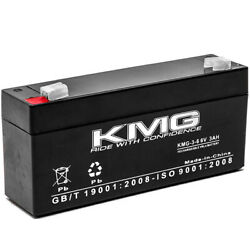 6v 3ah F1/f2 Kmg-3-6 Battery For General Electric / Ge 2037103-016 633178cr