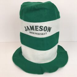 Jameson Irish Whiskey Felt Party Hat St. Patricks Day Halloween Green White 11