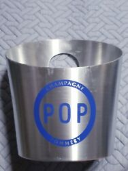 Made In France Vogalu Pop Champagne Pommery Metal Ice Bucket Cooler