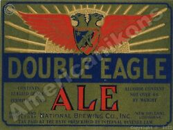 Double Eagle Ale New Metal Sign National Brewing Co. - New Orleans, Louisiana