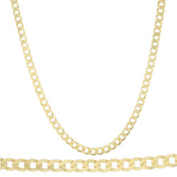 Solid 9ct Gold Solid Italian Bevelled Curb Chain - 30 7mm - Rrp £1980 R5