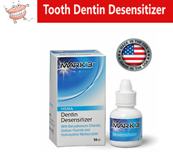 Tooth Dentin Desensitizer Dental Hema 10 Ml Made In Usa By Mark3 For Cements