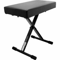 On Stage Kt7800+ Deluxe Steel Frame X Style Padded Bench Height Adjustable