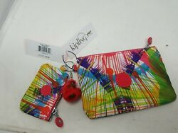 NWT Kipling colorful lot of 2 Clutch Travel Bag Pouch NEW j $29.95