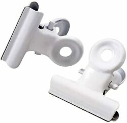22mm Small Bulldog Hinge Clips Metal Binder Clamps White 36 Pack