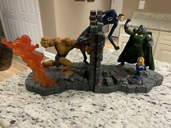 Fantastic Four Vs Dr.doom Bookends Marvel Diamond Select 2003 Extremely Rare