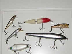 6 Lures Red Fincreek Cub Pikie 2700cordell Spot3 Unmarked