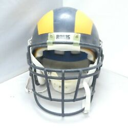 Dand039marco Farr Rams Game Used Helmet Right From Locker Room By Don Hewitt Eq. Mgr.