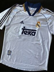 Vintage 90s Adidas Real Madrid 15 Morientes Official Authentic Soccer Jersey L