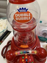 Dubble Bubble Gumball Machine Telephone Phone Works Parts Missing Please Read