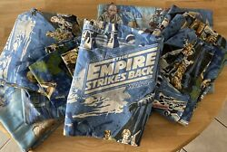 8 Pc Star Wars 1979 Twin Bed 2 Fitted Sheets, 2 Flat Sheets, 4 Curtains