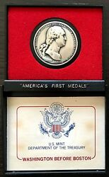 America's First Medals, Washington Before Boston Pewter Medal. Biofcs